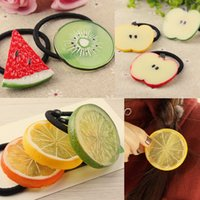 apple hair clips - Xayakids hair clips barrettes Shop yuan Tousheng Korean girls watermelon apple lemon fruit ring shaped hair band