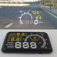 Wholesale Plug Play Speed Warn System W02 LED Car HUD Head Up Display OBD2 Interface