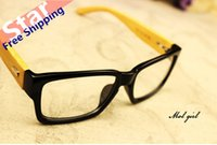 Wholesale big Unisex Multicolor wooden frame reading glasses anti fatigue radiation glasses