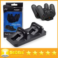 Wholesale Dual Charging Dock Dual Micro USB PS4 Charger Station Stand Base For PS4 Playstation Wireless Controller