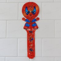 Wholesale cm child s inflatable toys cartoon clapper stick ballon Spiderman cheering stick
