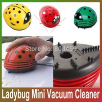 Wholesale Cute Mini Ladybug Handheld Vacuum Cleaner Desktop Car New AD Red