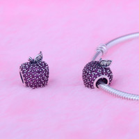 cheap price jewelry - Cheap Factory Price Sterling Silver Pandora Charms Sweet Red Apple With Cz Fits For European Bracelets Diy Jewelry