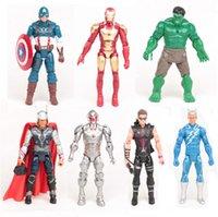 age mark - Marvel Avengers Iron man hulk thor Age of Ultron light Mark Captain America PVC Action Figure Toy Figures Dolls set by DHL