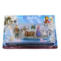 Wholesale Kids Play Toys Wholesalers - Fashion kids toy Action Figure Play Set Princess Dolls Anna Elsa 6 Figures Sets TV & movie Cartoon Anime (1103001)