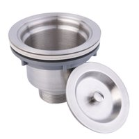 apron sinks - Stainless Steel Kitchen Sink Drain Assembly Waste Strainer and Basket Brand New