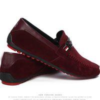aa ocean - Fashion Men Korean Breathable Peas Shoes British Fashion Tide Male Shoes driving shoes men s loafers Dress Shoes Canvas Sneakers SZ16 S01