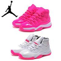 girls basketball shoes - Lady dan Basketball Shoes Womens Retros XI Hot Pink Basketball Shoe Girls Sports Shoes Grey Comfortable Trainers Hot Sales
