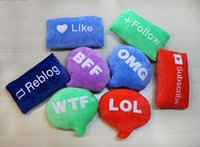 Wholesale Drop Shipping Emoji Letter Pillow Gift Cute Letter Pillow Christmas Present Funny Plush Bolster Pillows LOL WTF OMG Pillow Christmas Gift