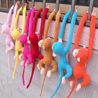 arm puppets - Lovely Kids Soft Plush Baby Toys Cute Long Arm Monkey Stuffed Animals Doll Gift Lovey Cartoon Plush Toys
