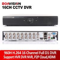 al por mayor red dvr d1-DVR híbrido 960H 16CH D1 DVR en tiempo real de grabación NVR red CCTV Onvif de vídeo grabadora de Canal 16 con salida HDMI 1080P, P2P Nube / CMS