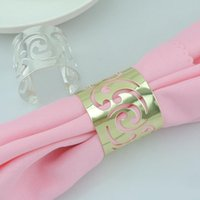 Wholesale Stock Ready Cutout Metal Napkin Rings Hotel Wedding Supplies Party Table Decoration Accessories Napkin Cloth ring