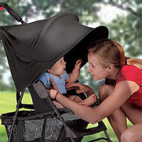Wholesale 2015 High quality baby stroller sun shade anti UV awning Black Protective rain cover foldable pram accessories