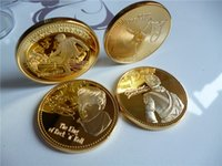 antique singer - 10pcs The Elvis Michael Jackson music Singers souvenir coins metal crafts New craft