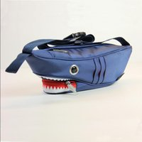 bags madness - NEW PATENT LEATHER PU MEN AND WOMEN MESSENGER BAG CANVAS SHOULDER BAG FASHION MADNESS SHARK CHEST PACK