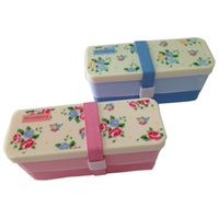 Wholesale New High Heat Resistance Fully Sealed Food Double Layers Plastic Bento Lunch Box Hot Sales small box