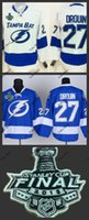 Ice Hockey bay patch - Hot Items tampa bay jonathan drouin lightning jersey blue white Ice Hockey Jerseys with Final Stanley Cup Patch Accept Mix order