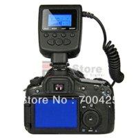 Luz continua del anillo RF-550D del envío libre 48-LED ligero para la lente de Canon Nikon Sigma con el LCD grande