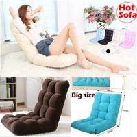 Sofá de tecido de alta qualidade Chaise Lounge Sofá multifuncional cadeira dobrável cadeira reclinável Siesta sofá macio morno Beanbag criativo Mobiliário