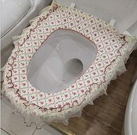 Wholesale Princess High Quality Lovely COMFORTABLE toilet seat cover bath Set toilet seats fabric WC toilet set Overcoat Toilet Case