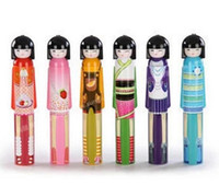 aluminum tube prices - Cut Kokeshi Doll Umbrella Fashion Hot style Cartoon Folding Umbrella for Rain Factory Price DHL