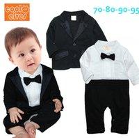 Wholesale Autumn baby boy gentleman long sleeved dress suit baby leotard Jacket size