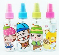 Wholesale 100ml transparent packing bottle plastic spray bottle perfume bottle High grade Refillable PET with Spray Pump Atomizer Small Empty PWQ12