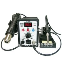 Cheap 220V 750W ATTEN AT8586 2 in 1 Hot Air SMD Rework station Soldering Station Desoldering Station