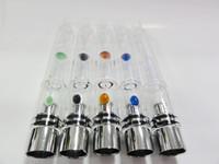 aqua tank - Pyrex Glass Water shisha atomizer pipe Ecigs Tank Wax Coil glass water Vaporizer Aqua Bubbler for eGo series