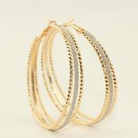 Wholesale Seckilling New Top Quality Big Hoop Earrings mm K Gold Plated Hoop Earrings for Women Jewelry Lowest Price