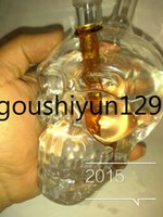 Wholesale 2015 Hot Crystal Skulls Vodka Bottles Top Head skull Shisha Hookahs recycler glass bongs