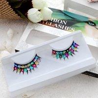 artistic wholesaler - pair pack Artistic metallic glittering model show artificial false eyelashes