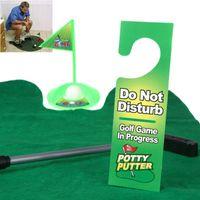 Wholesale Funny Toilet Bathroom Mini Golf Mat balls Set Potty Putter Putting Game Novelty