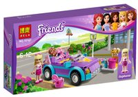 Wholesale Girls Building Blocks Friends Bricks Stephanie s Car Girls Educational Bricks Toys with Coloring Box Packing