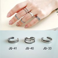Wholesale Korean star with joint ring tail ring sterling silver foot Famous plain silver rings retro suits