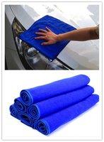 Wholesale 6PCS Microfiber Absorbent Towel Car Clean Wash Polish Multi function Towel Blue SW233