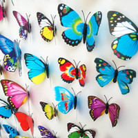 wall magnetic - 3D Wall Sticker PVC Butterfly Magnetic Sticker DIY Home Decor Wall Stickers Home Decoration pieces ZYQ1