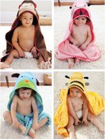 Wholesale new Kids Baby Animals Dressing Gown Wrap Hooded Bath Towel Bathrobes Size cm