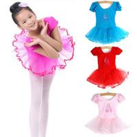 Wholesale 2015 New Child dress Girls Ballet Dancewear Dress Tranning Dance Skirt Tutu Dress Leotard SizeYRD