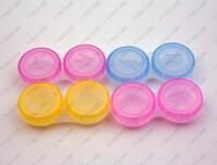 Wholesale Contact Lens Case Cooleye Transparent contact lens case Candy Color Dual Box Double Case Free DHL UPS Factory Direct