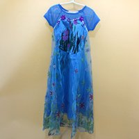 skirting direct - The summer of a foreign children frozen dress small girls skirt ELSA princess dress factory direct