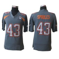 eagles football jerseys - 2015 Fashion Football Pro Bowl Jersey Eagles Darren Sproles Grey Jersey top quality