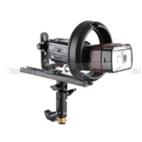 Porte-support en métal Speedlite + Hot Shoe Mount Adapter pour Bowens Chuck Photo Studio Réflecteur Beauté Dish Softbox Snoot