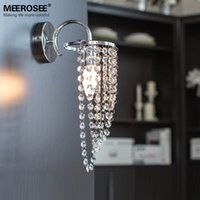 Wholesale New Modern Crystal Kronleuchter Wall Light Brief Style Wall Bracket with Top K9 Crystal W120mm H330mm Bed lighting