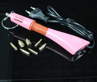 Wholesale Rapid Heat Retail Pink Hot fix Applicator wand Gun for Hotfix Rhinestones iron on crystals free DIY tray and tweezers