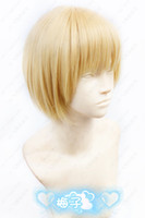 al por mayor armin cosplay-Anime Shingeki de Wholesale-1510 ninguna peluca cosplay del oro corto de Kyojin Armin Arlert los 35cm para el envío libre de Víspera de Todos los Santos