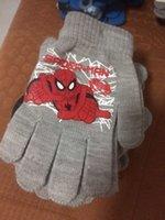 Al por mayor-2pair / tamaño libre ajuste de guantes lot caliente Venta Nueva historieta Spierman coches Minnie de guantes mitones niños de 2-10 años de edad LG09