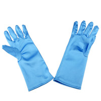 Wholesale Frozen gloves Frozen princess elsa long blue gloves frozen costume gloves kids costume gloves