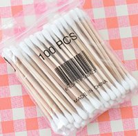 Wholesale Senior health cotton swab stick double head antibacterial cosmetic beauty makeup cleaning cotton swab about branches opp