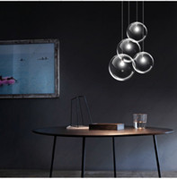 area single - Glass chandelier creative contemporary and contracted single head restaurant bar bedroom of children room recreational area round ball